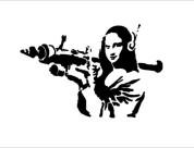 Трафарет мона лиза Бэнкси, знаменитая его работа, трафарет из пластика купить