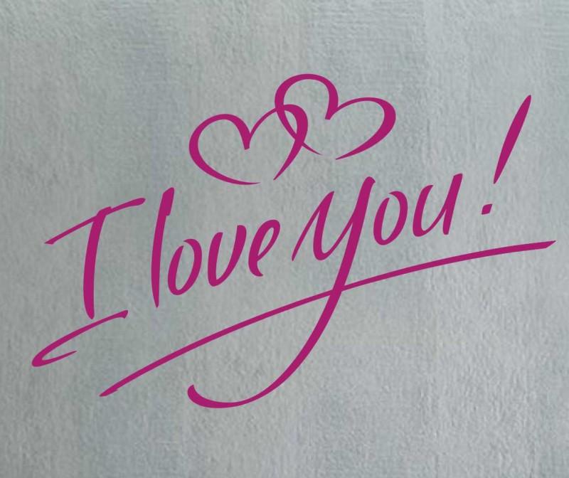 трафарет, Люблю тебя, I love You, пластик, наклейка