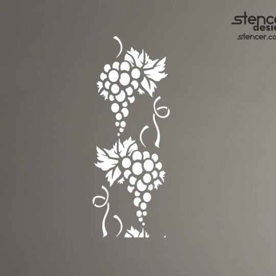 рафарет виноград, символ, на стену, пластик, многоразовый, декор интерьера